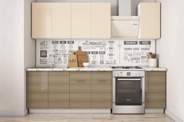 Кухонный гарнитур Бостон 2.0 кремовый